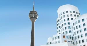 <strong>Fernsehturm und Gehry-Bauten, Düsseldorf</strong><br />  Heizung.